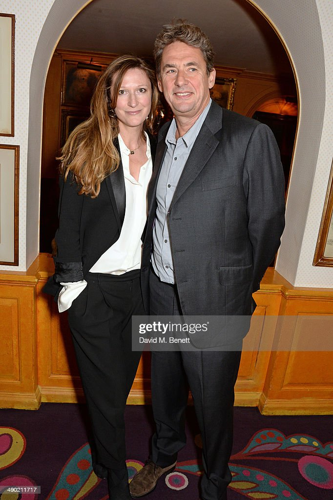 Amy Gadney and Tim Bevan attend a private dinner following the UK Premiere of 'The Two Faces Of January' at Annabel's on May 13 2014 in London England
