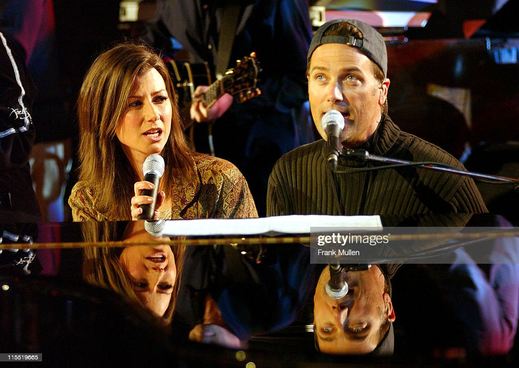 Amy Grant and Michael W Smith during The 34th Annual Dove Awards Rehearsals at The Gaylord Center in Nashville Tennessee United States