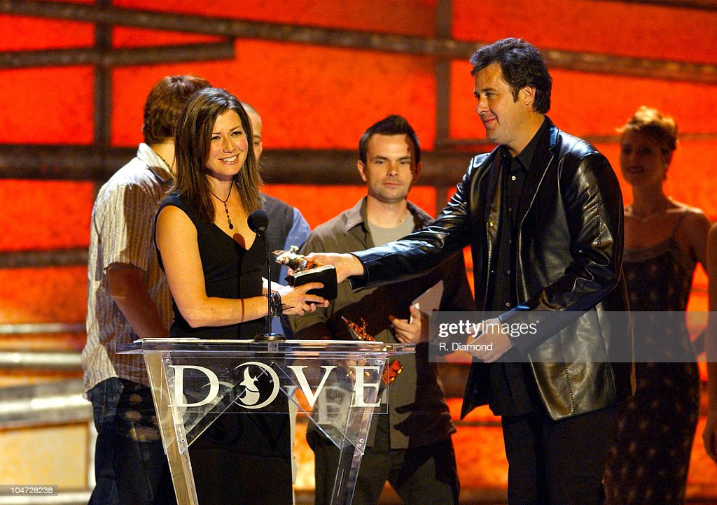 Amy Grant and Vince Gill during The 34th Annual Dove Awards Pretelecast at The Gaylord Center in Nashville Tennessee United States