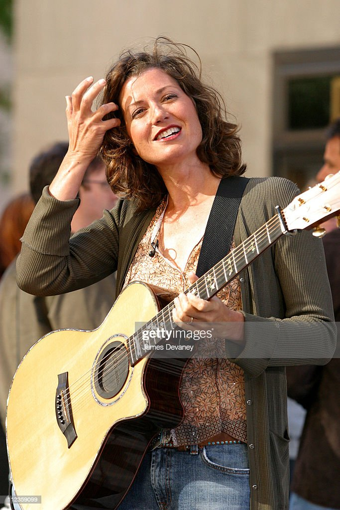 Amy Grant during Amy Grant and Vince Gill Perform on 'The Today Show' Summer Concert Series July 12 2002 at NBC Studios Rockafeller Center in New...