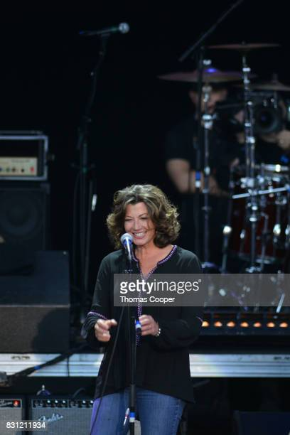 Amy Grant performs during The Rocky Mountain Way honoring inductee's into the Colorado Music Hall of Fame event at Fiddler's Green Amphitheatre on...