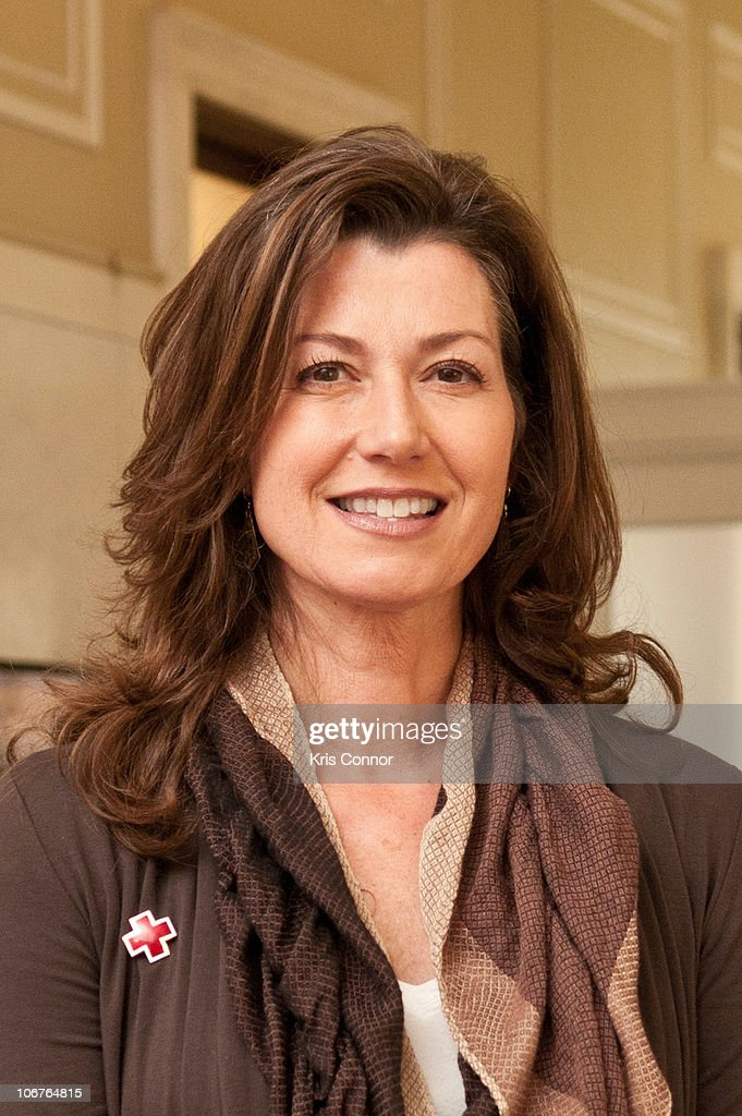 Amy Grant poses for a photo during the 2010 Holiday Mail for Heroes program launch at the American Red Cross on November 11 2010 in Washington DC