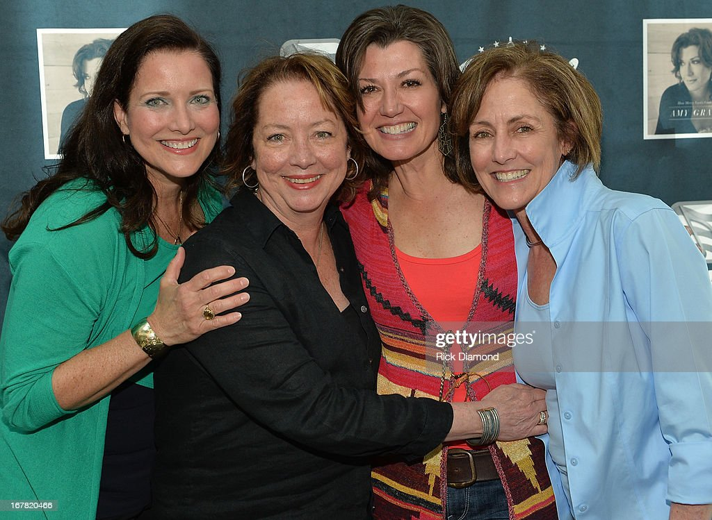 Amy Grant with her sisters Carol Nuismer MiMi Verner and Kathy Harrell attend the Amy Grant Album Launch Party at ASCAP on April 30 2013 in Nashville...