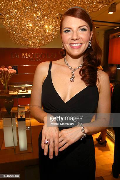 Amy Halldin attends Di Modolo Denise Rich with New York Magazine host Disco Diamonds Launch Party at Di Modolo on September 19 2006 in New York City