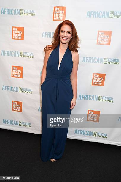 Amy Halldin attends the 23rd New York African Film Festival Opening Night at Walter Reade Theater on May 4 2016 in New York City
