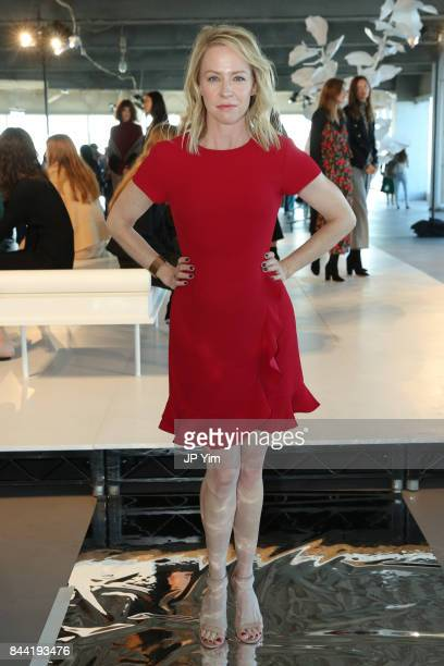 Amy Hargreaves attends Club Monaco Presentation at 4 World Trade Center during New York Fashion Week on September 8 2017 in New York City