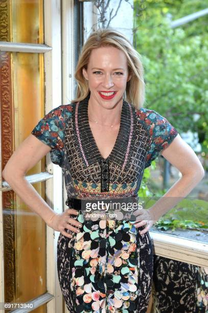 Amy Hargreaves attends the 10th anniversary Films on the Green opening cocktail party at Cultural Services of the French Embassy on June 2 2017 in...