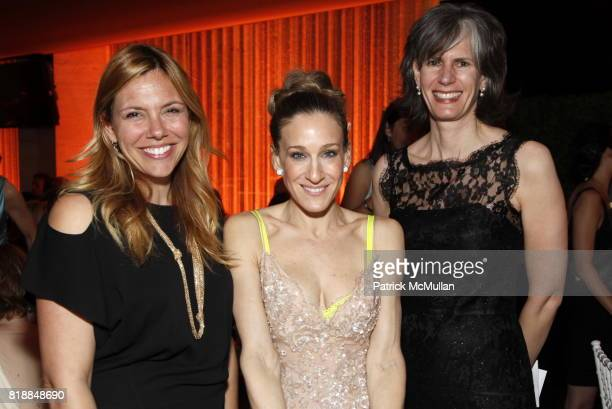 Amy Harris Sarah Jessica Parker and Kate Levin attend NEW YORK CITY BALLET Spring Gala 2010 Arrivals at Lincoln Center on April 29 2010 in New York