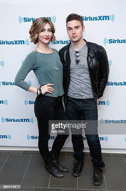 Amy Heidemann and Nick Noonan of Karmin visit at SiriusXM Studios on September 28 2015 in New York City