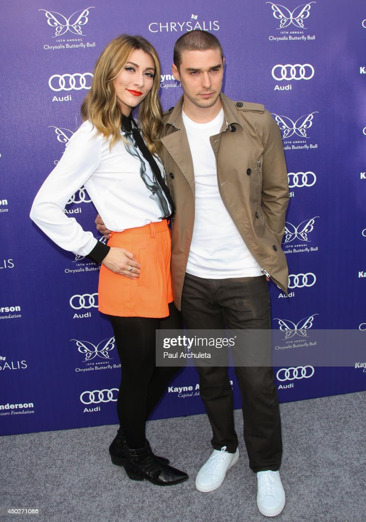 Amy Heidemann (L) and Nick Noonan (R) of the Pop Band Karmin attend the 13th Annual Chrysalis Butterfly Ball at a private Mandeville Canyon Estate on June 7, 2014 in Los Angeles, California.