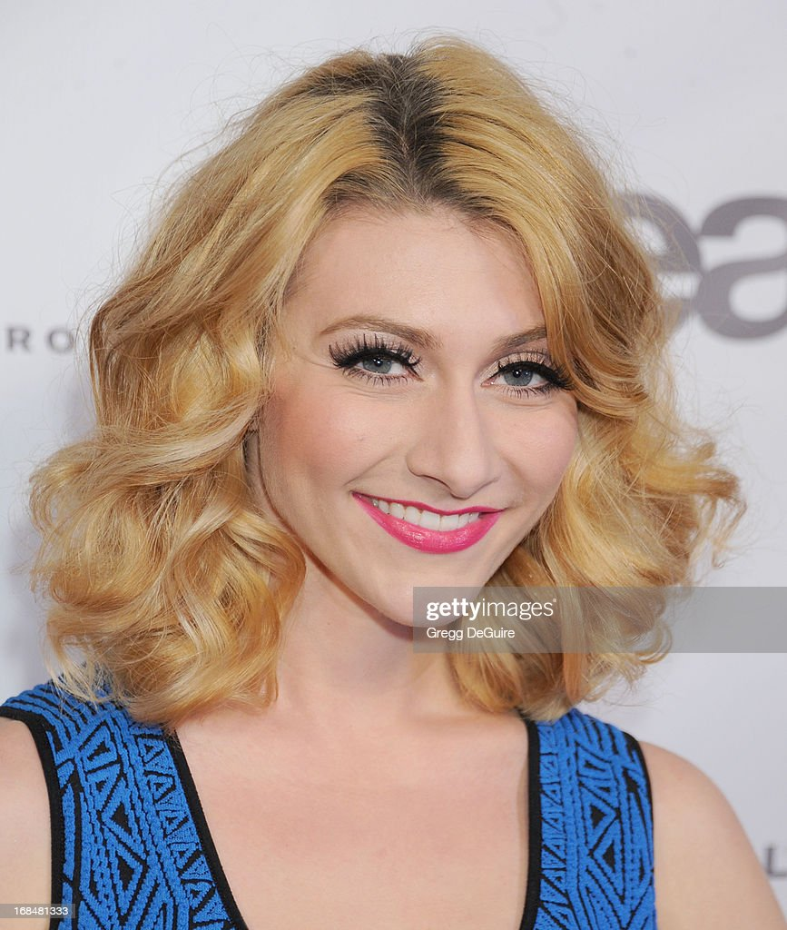Amy Heidemann of Karmin arrives at the NARM Music Biz Awards dinner party at the Hyatt Regency Century Plaza on May 9, 2013 in Century City, California.