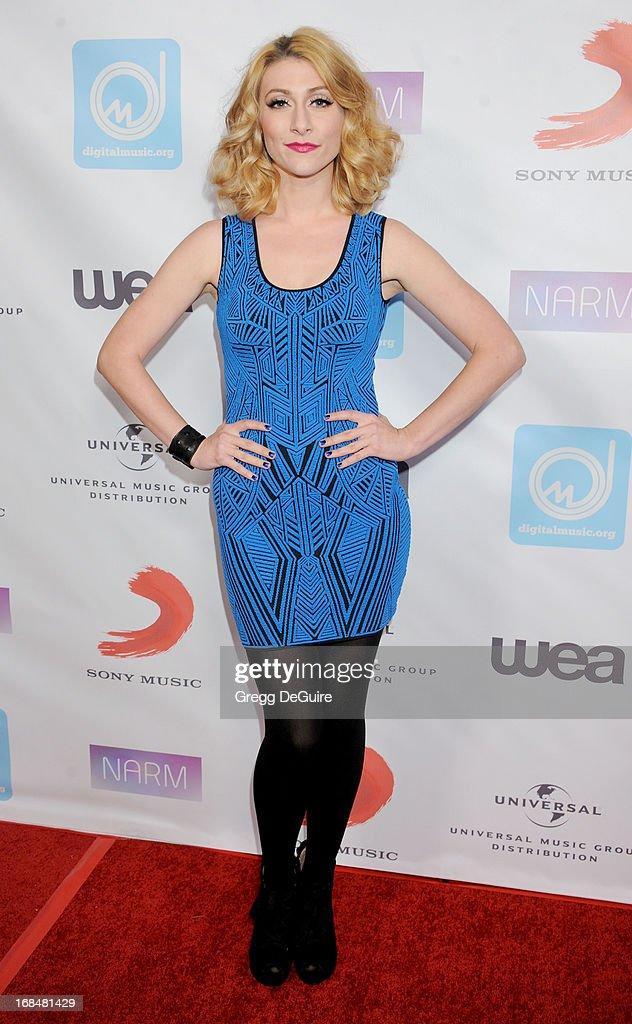 Amy Heidemann of Karmin arrives at the NARM Music Biz Awards dinner party at the Hyatt Regency Century Plaza on May 9, 2013 in Century City, California.