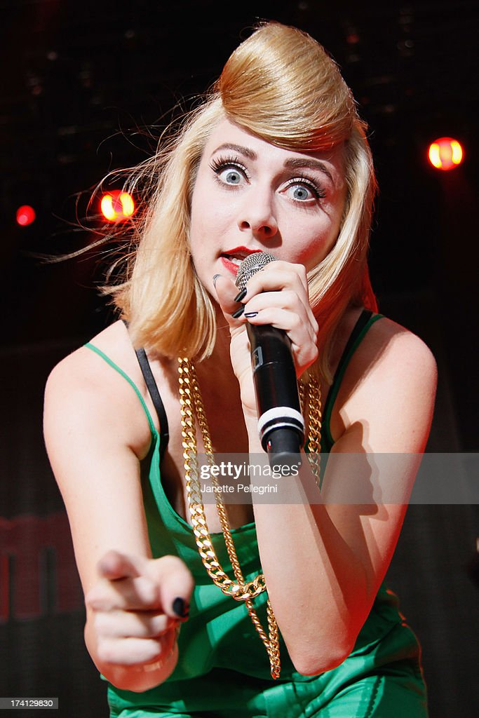 Amy Heidemann of Karmin perfoms at Nikon at Jones Beach Theater on July 20, 2013 in Wantagh, New York.