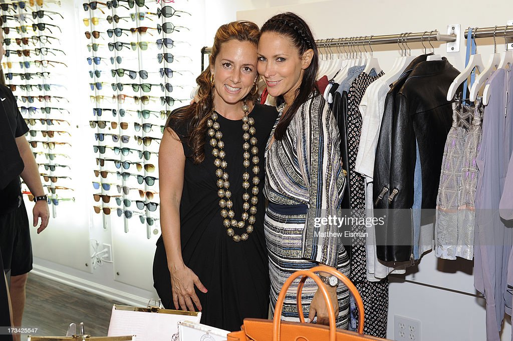 Amy Heilberg (L) and designer <a gi-track='captionPersonalityLinkClicked' href=/galleries/search?phrase=Lori+Levine&family=editorial&specificpeople=2938254 ng-click='$event.stopPropagation()'>Lori Levine</a> attend Blue & Cream presents the Hamptons Summer Soiree with Comes With Baggage and Havaianas on July 13, 2013 in East Hampton, New York.
