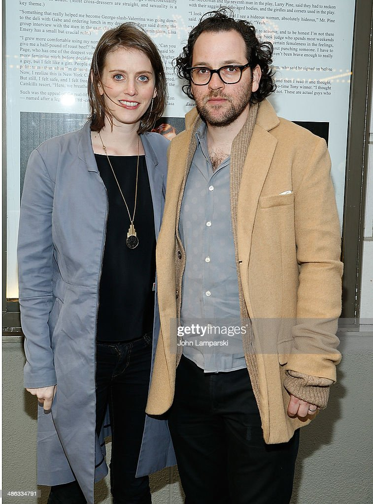 Amy Herzog and Sam Gold attends the Broadway opening night for 'Casa Valentina' at Samuel J. Friedman Theatre on April 23, 2014 in New York City.