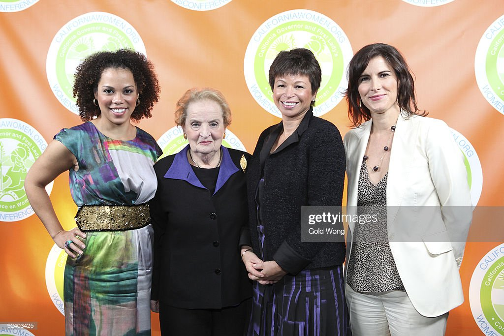 COVERAGE* Amy Holmes Madeline Albright Valerie Jarrett and Claire Shipman backstage at The 2009 Women's Conference at Long Beach Convention Center on...