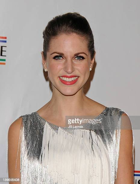 Amy Huberman attends the 7th Annual 'Oscar Wilde Honoring The Irish In Film' PreAcademy Awards Event at Bad Robot on February 23 2012 in Santa Monica...