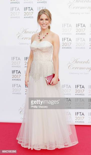 Amy Huberman attends the IFTA Film Drama Awards on April 8 2017 in Dublin Ireland