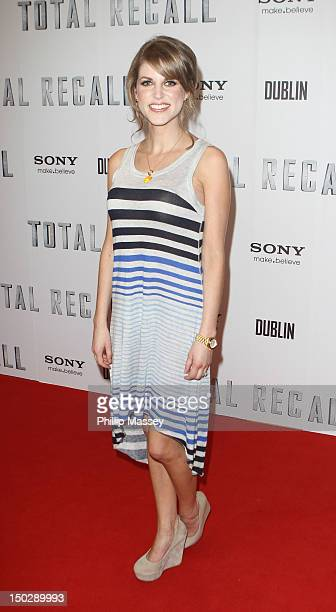 Amy Huberman attends the Irish Premiere of 'Total Recall' at the Savoy Cinema on August 14 2012 in Dublin Ireland