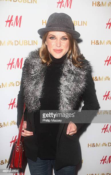 Amy Huberman attends the opening of the irish flagship HM store on December 18 2014 in Dublin Ireland
