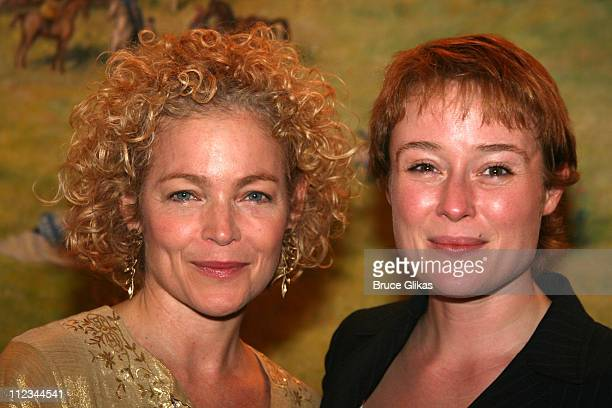 Amy Irving and Jennifer Ehle during Opening Night of Tom Stoppard's 'The Coast of Utopia Voyage' at Tavern On The Green in New York NY United States