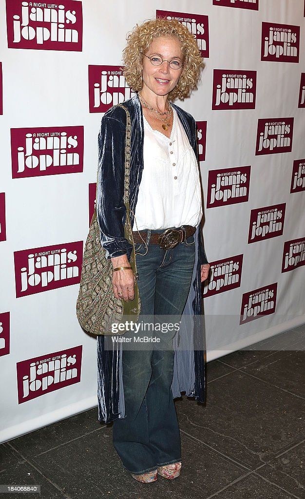 <a gi-track='captionPersonalityLinkClicked' href=/galleries/search?phrase=Amy+Irving&family=editorial&specificpeople=211588 ng-click='$event.stopPropagation()'>Amy Irving</a> attends the broadway opening night of 'A Night With Janis Joplin' at Lyceum Theatre on October 10, 2013 in New York City.