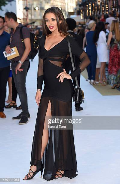 Amy Jackson attends the European Premiere of 'Magic Mike XXL' at Vue West End on June 30 2015 in London England