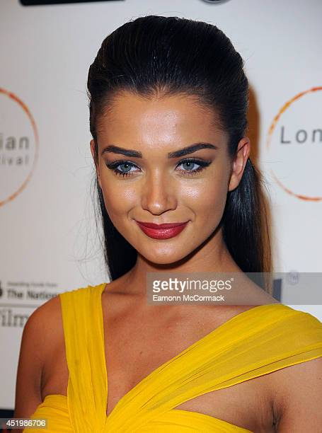 Amy Jackson attends the opening film 'Sold' for THe London Indian Film Festival at Cineworld Haymarket on July 10 2014 in London England