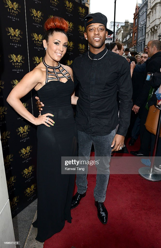 Amy Jane and Oritse Williams attend the Lipsy VIP Fashion Awards 2013 at DSTRKT on May 29, 2013 in London, England.