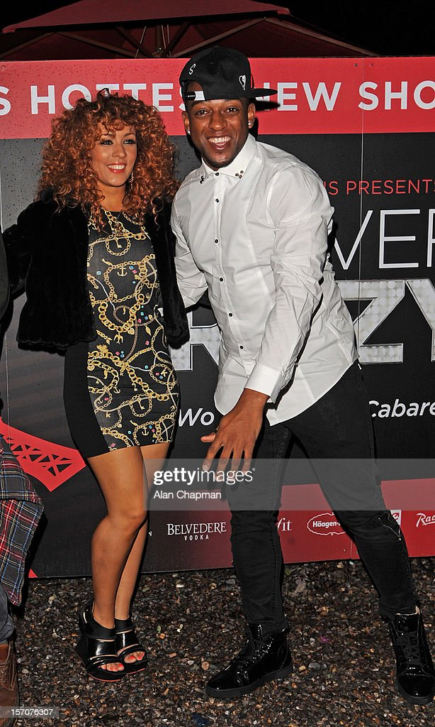 Amy Jane and <a gi-track='captionPersonalityLinkClicked' href=/galleries/search?phrase=Oritse+Williams&family=editorial&specificpeople=5739700 ng-click='$event.stopPropagation()'>Oritse Williams</a> sighting at Crazy Horse show on November 27, 2012 in London, England.