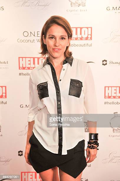 Amy Jo Johnson attends HELLO Canada Gala Celebrates Canada's Most Beautiful Gala at ShangriLa Hotel on May 22 2014 in Toronto Canada
