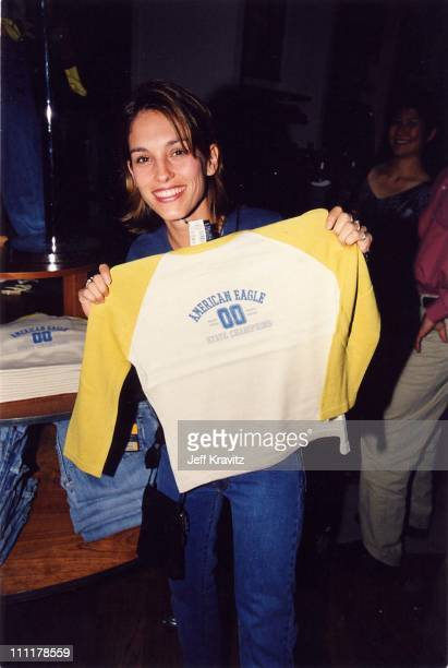 Amy Jo Johnson during Opening of American Eagle Store in Los Angeles California United States