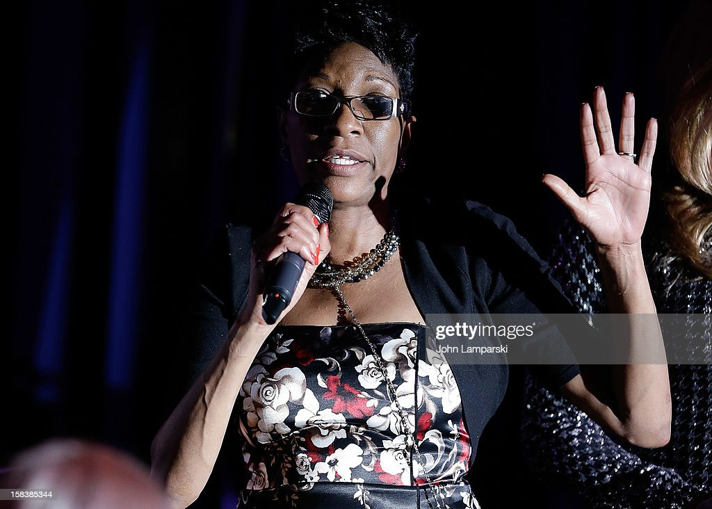 Amy Jusgice attends Sahara Davenport Public Memorial Service at XL Nightclub on December 14, 2012 in New York City.