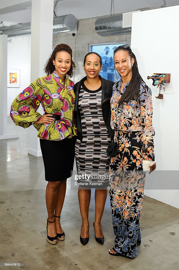 Amy Keith, Naima Keith and Joy Simmons attend The Mistake Room's Benefit Auction on October 13, 2013 in Los Angeles, California.