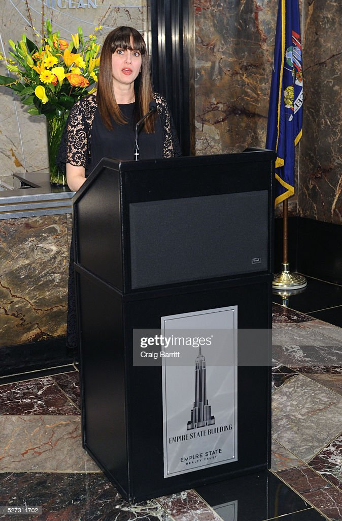 Amy Laird attends the lighting of The Empire State Building green on behalf of The Hope & Grace Initiative in honor of Mental Health Awareness on May 2, 2016 in New York City.