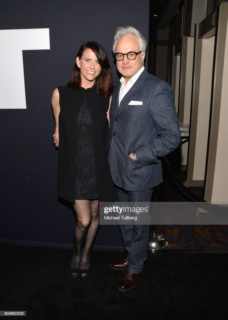 Amy Landecker and actor Bradley Whitford attend a screening of Universal Pictures' 'Get Out' at Regal LA Live Stadium 14 on February 10, 2017 in Los Angeles, California.