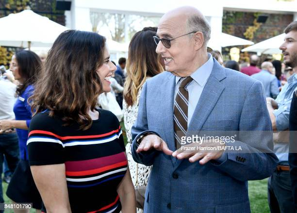 Amy Landecker and Jeffrey Tambor attend the BBC America BAFTA Los Angeles TV Tea Party 2017 at The Beverly Hilton Hotel on September 16 2017 in...