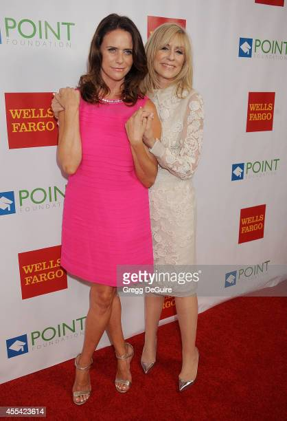 Amy Landecker and Judith Light arrive at Point Foundation's Annual 'Voices On Point' Fundraising Gala at the Hyatt Regency Century Plaza on September...