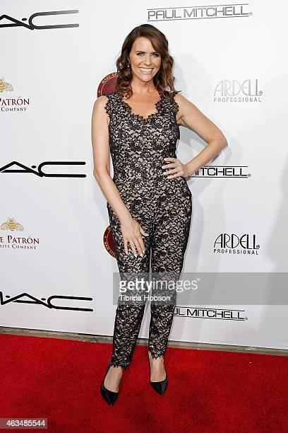 Amy Landecker attends the MakeUp Artists and Hair Stylists Guild Awards at Paramount Theater on the Paramount Studios lot on February 14 2015 in...