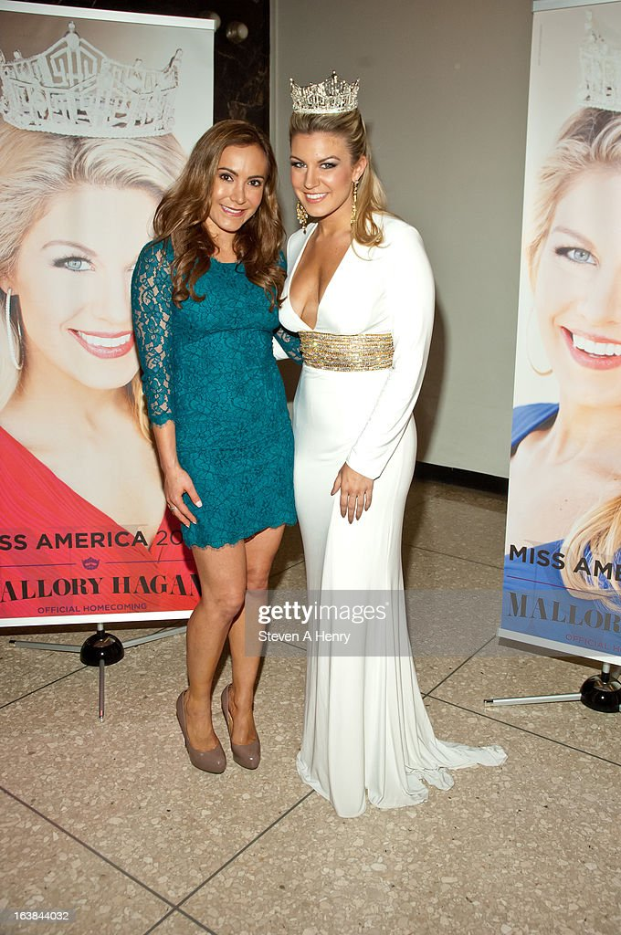 Amy Laurent and Miss America 2013 <a gi-track='captionPersonalityLinkClicked' href=/galleries/search?phrase=Mallory+Hagan&family=editorial&specificpeople=9408105 ng-click='$event.stopPropagation()'>Mallory Hagan</a> attend the Miss America 2013 Homecoming Gala at The Fashion Institute of Technology on March 16, 2013 in New York City.