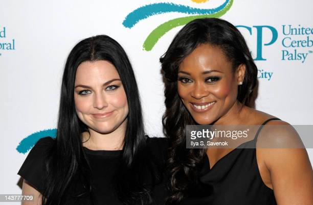 Amy Lee and Robin Givens attend the 11th annual Women Who Care luncheon at Cipriani 42nd Street on May 3 2012 in New York City
