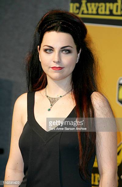 Amy Lee of Evanescence during 2004 MTV European Music Awards Press Room at Tor di Valle in Rome Italy
