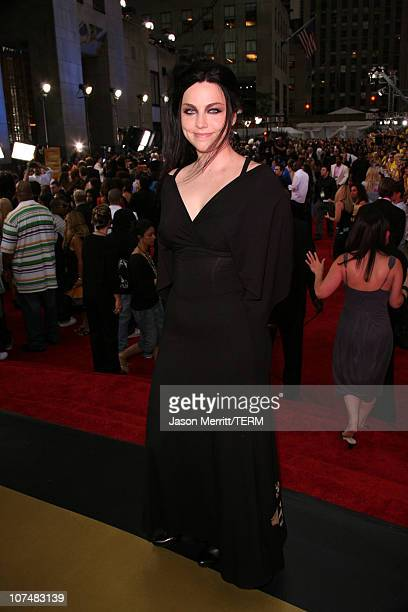 Amy Lee of Evanescence during 2006 MTV Video Music Awards MTV News Red Carpet at Radio City Music Hall in New York City New York United States