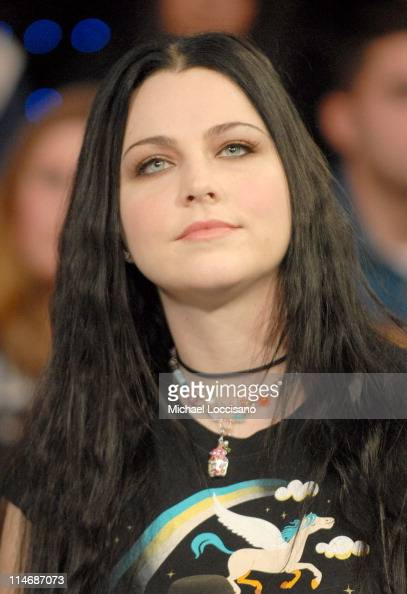 Amy Lee of Evanescence during Michelle Trachtenberg Amy Lee of Evanescence and Cartel Visit MTV's 'TRL' December 21 2006 at MTV Studios Times Square...