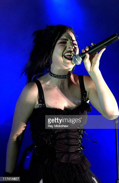 Amy Lee of Evanescence during Nintendo Fusion Tour Presents Evanescence Show in Universal City California United States
