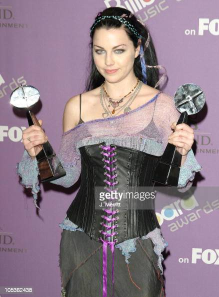 Amy Lee of Evanescence during The 2003 Billboard Music Awards Press Room at MGM Grand in Las Vegas Nevada United States