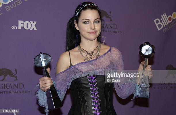 Amy Lee of 'Evanescence' during The 2003 Billboard Music Awards Press Room at MGM Grand Garden Arena in Las Vegas Nevada United States