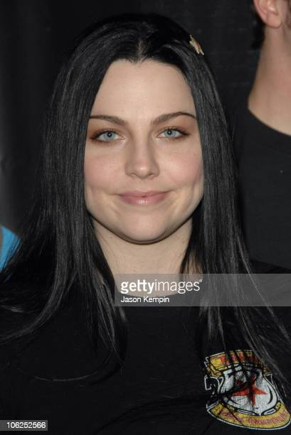 Amy Lee of Evanescence during Z100's Jingle Ball 2006 Press Room at Madison Square Garden in New York City New York United States