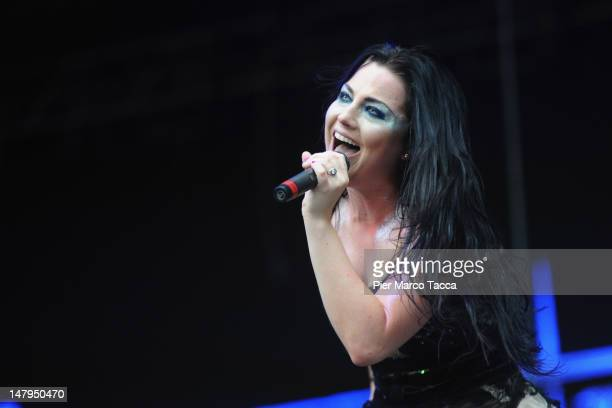 Amy Lee of Evanescence perform at the 2012 Heineken Jammin Festival of on July 6 2012 in Milan Italy