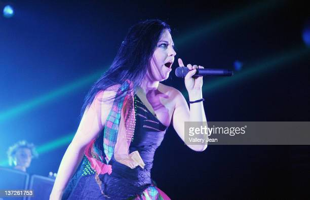 Amy Lee of Evanescence performs at Hard Rock Live at the Seminole Hard Rock Hotel and Casinos on January 17 2012 in Hollywood United States